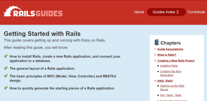 Free Ruby on Rails tutorials on Rails Guides