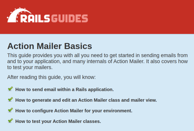 Ruby on Rails Action Mailer