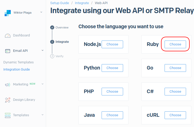 SendGrid Ruby language integration