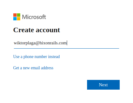 Provide your account email