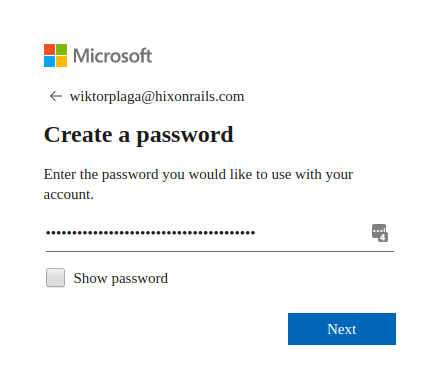 Provide your account password