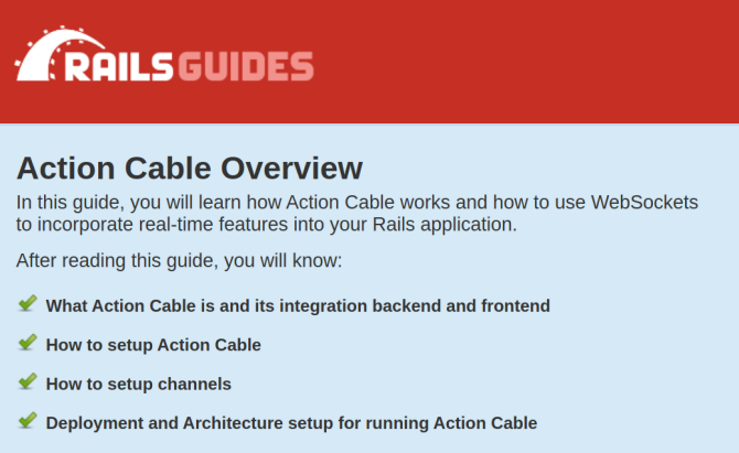 Action Cable in Ruby on Rails